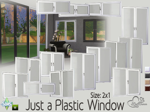 Sims 4 — Just a Plastic Window (2x1) by BuffSumm — This set contains 20 new windows for your Sims. You get them in 4