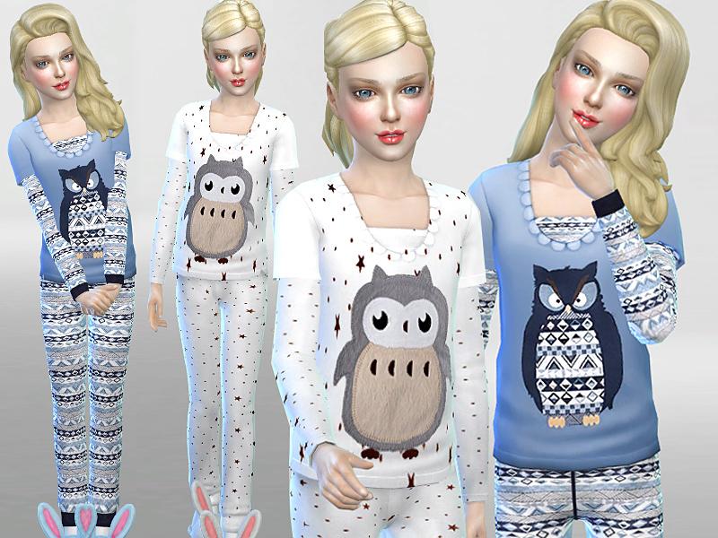 Pinkzombiecupcakes' Winter Owl Pyjama Set