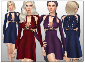 Sims 4 — Cashmere Dress with Metal Details by simseviyo — A beautiful dress with metal details