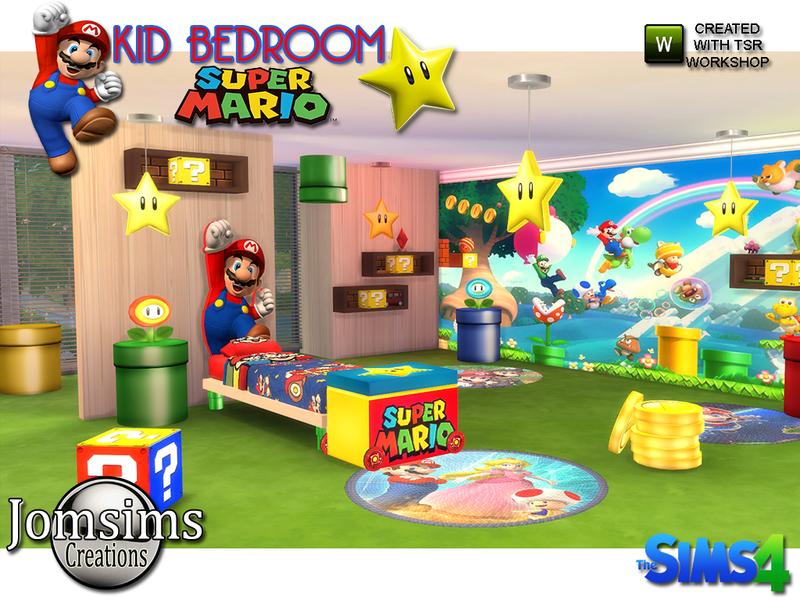 . jomsims  Super mario kids bedroom
