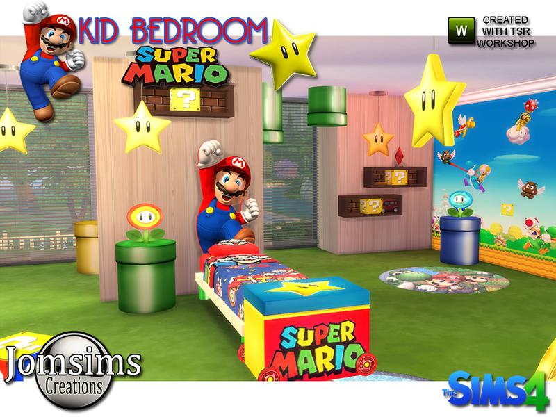 Super mario kids bedroom. jomsims  Super mario kids bedroom