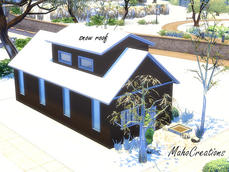 mahocreations snow roof set
