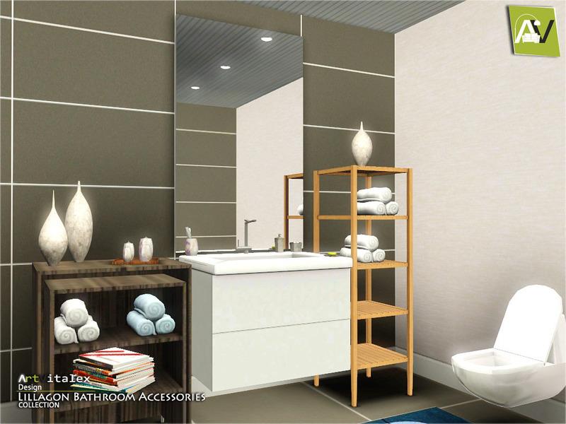 Artvitalex 39 s lillagon bathroom accessories for Bathroom ideas sims 3
