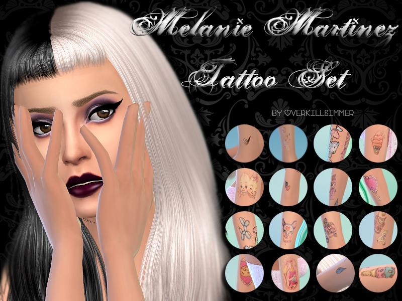 Overkill Simmer S Melanie Martinez Tattoo Set