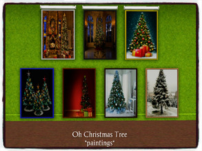 Sims 3 — Oh Christmas Tree by Xodess — Beautiful Christmas Tree painting for your Sims' home. This is a single file with