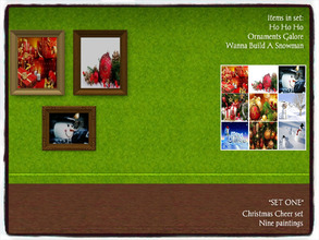 Sims 3 — Christmas Cheer_*SET ONE* by Xodess — This set has three separate painting files; Ho Ho Ho, Ornaments Galore,