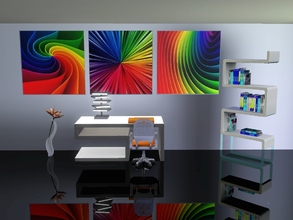 Sims 3 — Over the rainbow by Andreja157 — Abstract rainbow paintings/posters, 3 files Made in TSRW from EA mesh (ITF