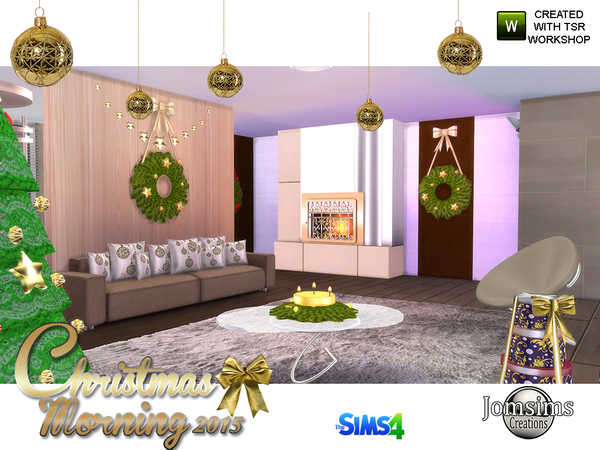 Jomsims Christmas Morning 2015 Living Room