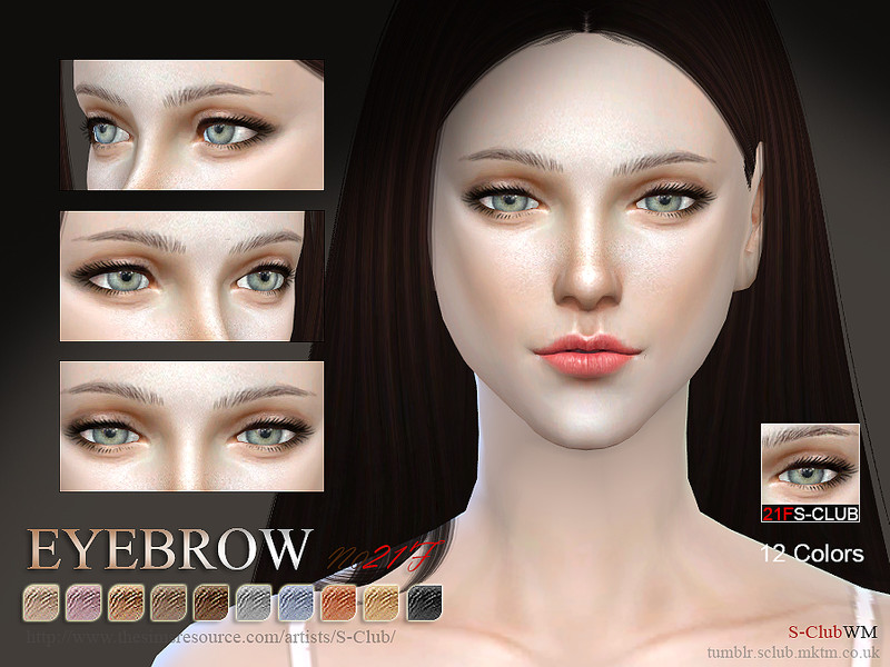 S-Club WM thesims4 Eyebrows 21F