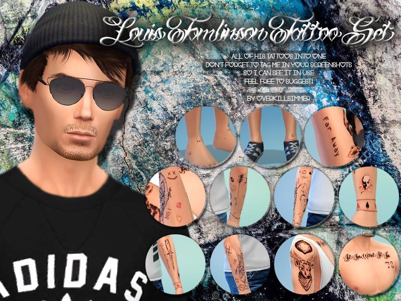 Overkill Simmers Louis Tomlinson Tatoo Set