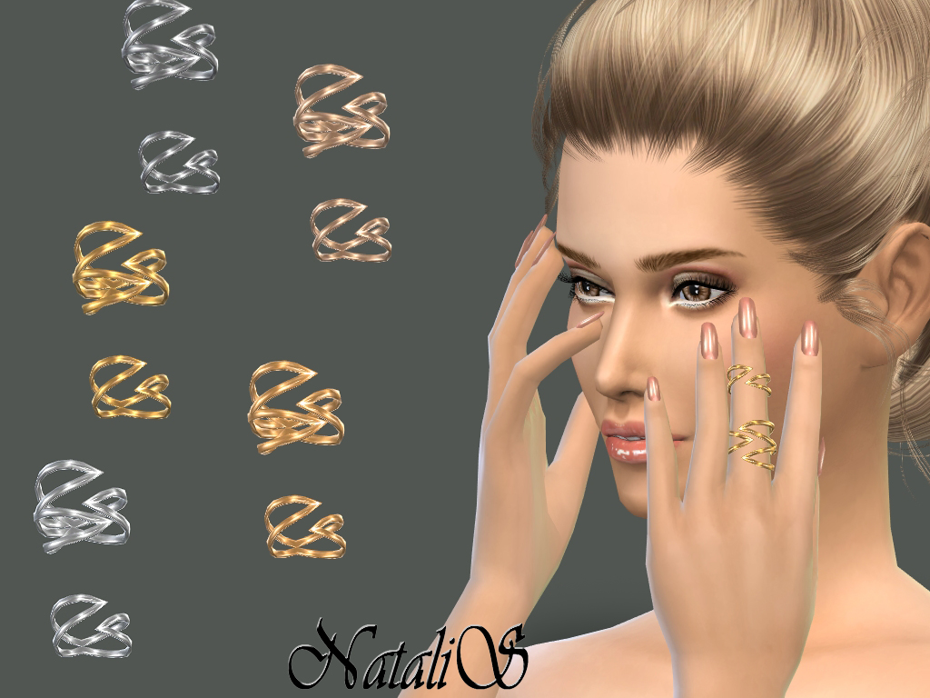NataliS_Winged double ring  for Sims 4