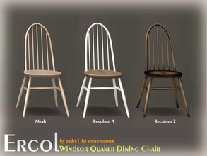 Sims 2 — Mid Century Ercol Windsor Quaker Dining Chair by Padre — A new, mid century dining chair, inspired by the design