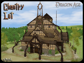 Sims 3 — Chantry Lot by murfeel — A Dragon Age inspired medieval chapel for your sim worlds! Has plenty of space to house
