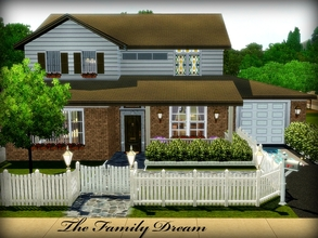 Sims 3 — The Family Dream -- 2BR, 2.5BA by sweetpoyzin2 — The house every newly married couple dreams of one day owning!