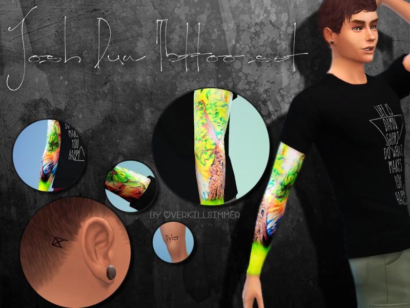 Overkill Simmer S Josh Dun Tattoo Set