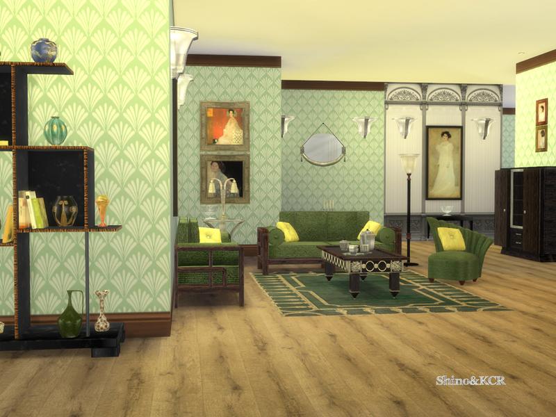 ShinoKCR's Art Deco Livingroom Mesmerizing Art Deco Living Room