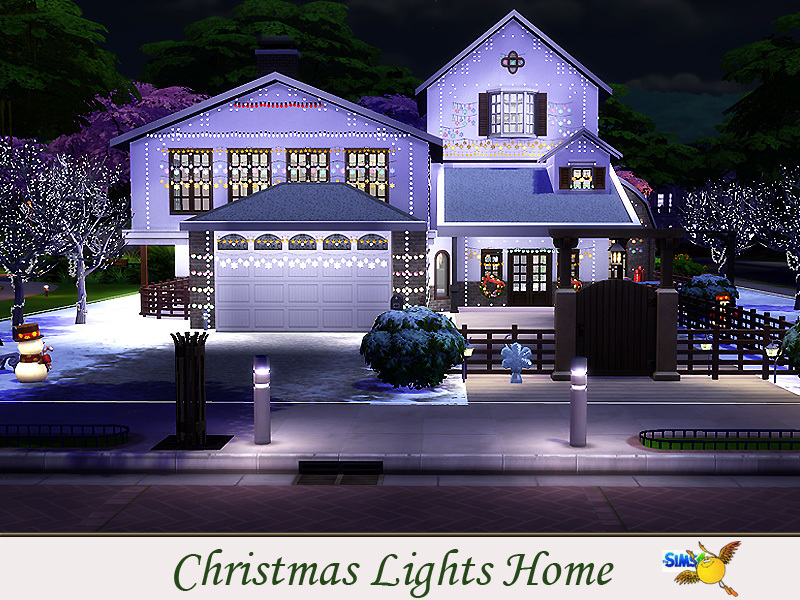 Evi christmas lights home for Sims 4 balcony