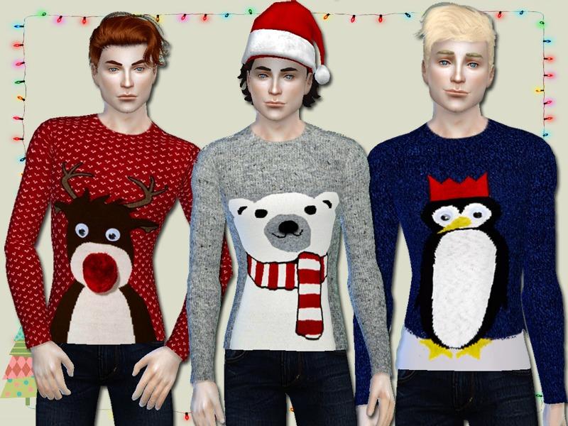The Sims 4 Cc Shopping 1 Christmas Jumpers Plum Lipsticks