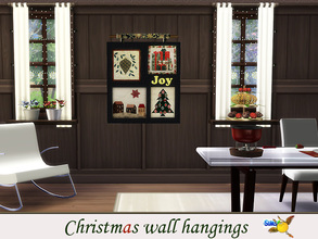 Sims 4 — evi Christmas wall hangings1 by evi — One of a set of colorful handmade wall hangings for Christmas