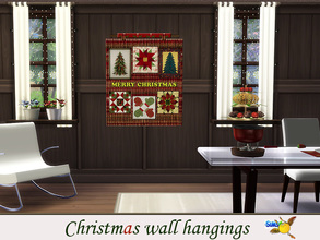Sims 4 — evi Christmas wall hangings 3 by evi — One of a set of colorful handmade wall hangings for Christmas