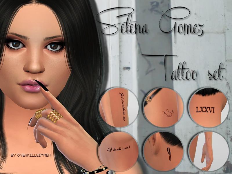 2eee99f6b Overkill Simmer's Selena Gomez Tattoo Set