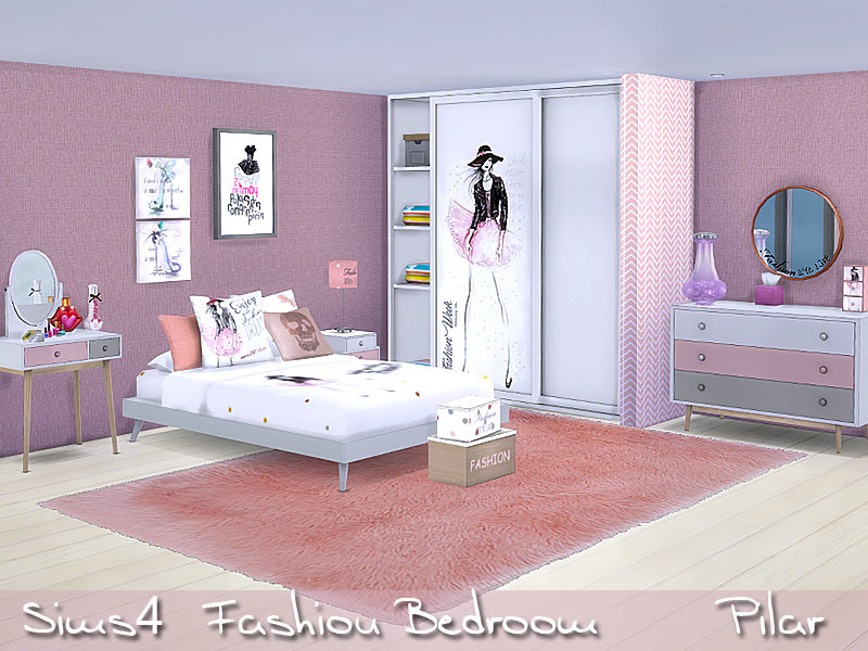 Pilar 39 s fashion bedroom for Bedroom designs sims 4
