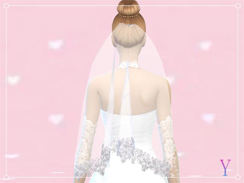 Sims 4 Wedding Veil.Elza Scarlet S Elza Wedding Veil