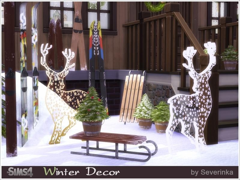 Winter Outdoor Decor Part - 45: Winter Outdoor Decor Set