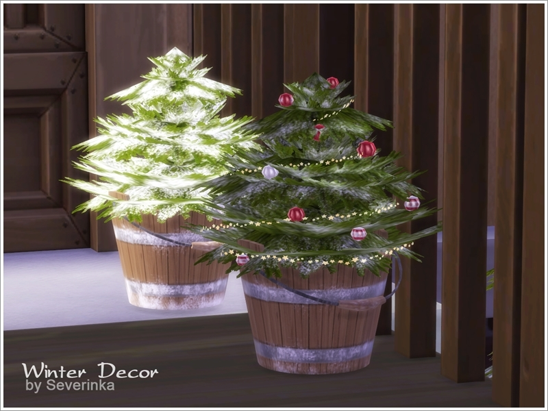 Winter Outdoor Decor Set