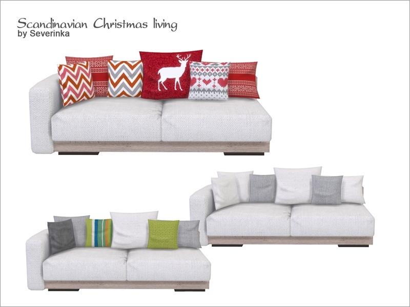 Scandinavian Christmas Living Sofa