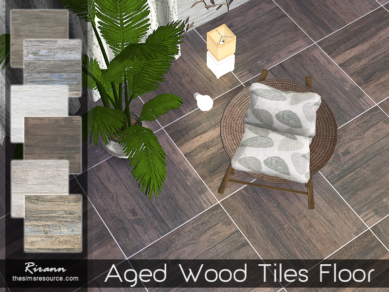 Rirann\'s Aged Wood Tiles Floor