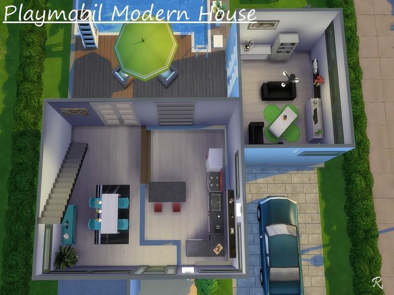 CyberReb's Playmobil Modern House