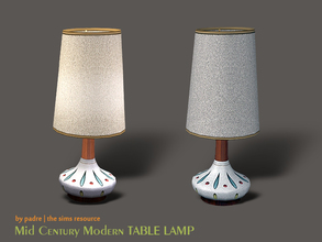 Sims 2 — Mid Century Modern Table Lamp by Padre — A Mid Century Modern table lamp Recolours and conversions welcome! p