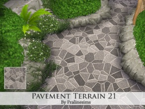 Sims 4 — Pavement Terrain 21 by Pralinesims — By Pralinesims