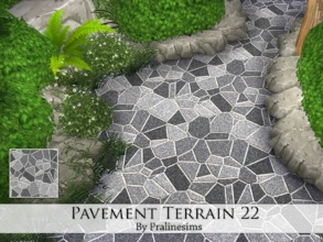 Sims 4 — Pavement Terrain 22 by Pralinesims — By Pralinesims