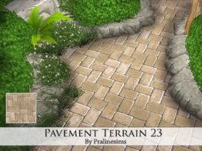 Sims 4 — Pavement Terrain 23 by Pralinesims — By Pralinesims