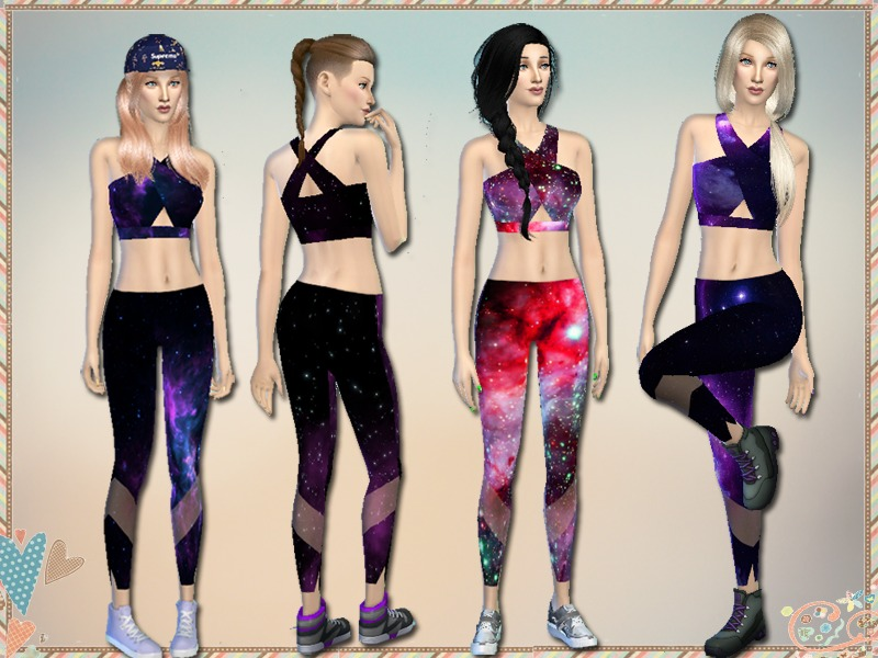 Simlark's Galaxy Sports Bras & Leggings -Get Together ...