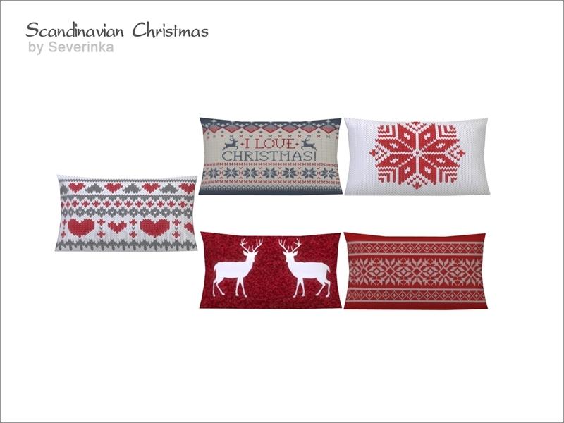 Severinka_ s [Scandinavian Christmas] Living chair pillow