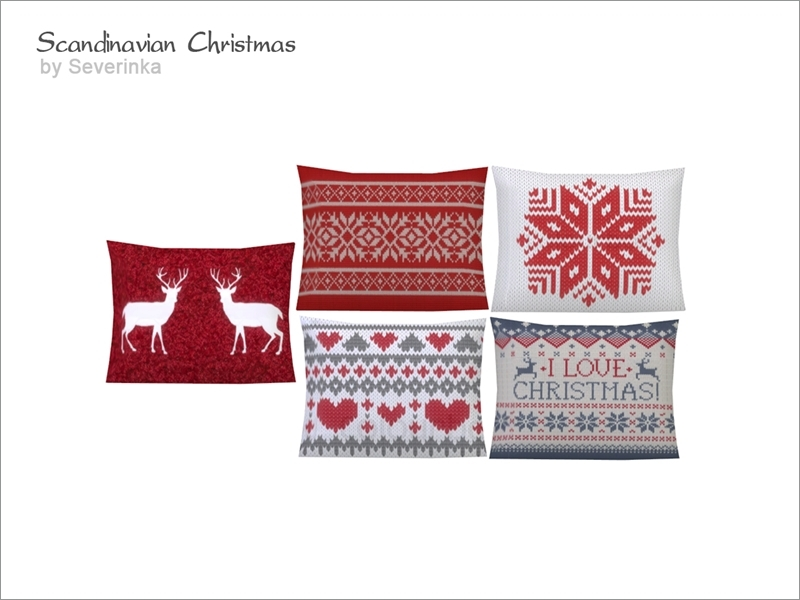 Scandinavian Christmas Pillow : Severinka_ s [Scandinavian Christmas] Love seat pillow