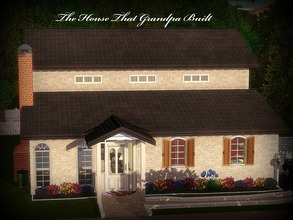 Sims 3 — Grandpa's House Redux--2BR, 2BA by sweetpoyzin2 — This house is modeled after my grandparents' old house. There