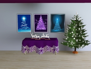 Sims 3 — Christmas trees 2015 by Andreja157 — 3 paintings in 1 file Made in TSRW from EA mesh (Late Night) Additional
