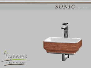 Sims 3 — Sonic Sink by NynaeveDesign — Sonic Bathroom - Sink Located in Plumbing - Sinks Price: 500 Tiles: 1x1