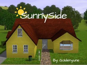 Sims 3 — SunnySide by goldenyune2 — This is a great house to pick. There is a sideways garage. 2 Bedroom, 1 Bathroom,