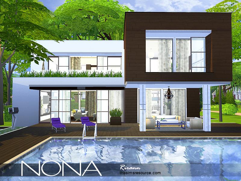 Rirann 39 s nona for Big modern house sims 4