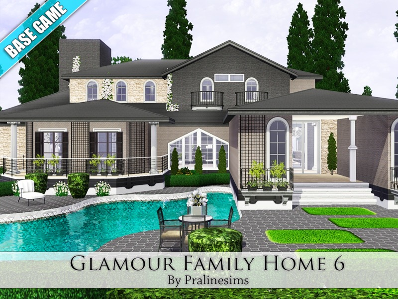 Sims 3 resource 5 bedroom house for Sims 3 6 bedroom house