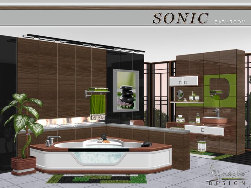 Nynaevedesign 39 s sonic bathroom for Bathroom ideas sims 3