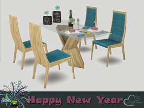 Sims 4 — New Year 2016 Dining by BuffSumm — May your New Year be filled with adoration, happiness, warmth, and cheer; and