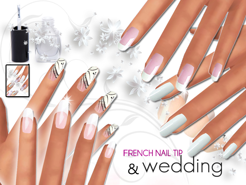 Pinkzombiecupcakes\' French Manicure and Wedding Nails Pack