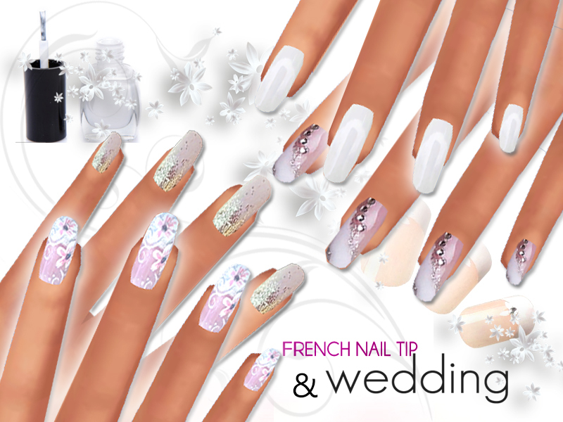 French Manicure And Wedding