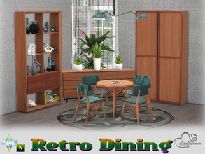 Sims 4 — Retro Diningroom by BuffSumm — Traveling back in time... Retro Living... Stylish, Colorful, Retro :) You get 17